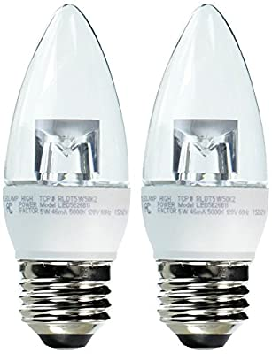 TCP 40 Watt 2 Pack LED Torpedo Light Bulb