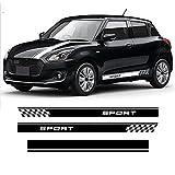 Auto Pegatinas de Calcomanías Stripe Lateral, para Suzuki Swift Sport 2017-2020 capó de Coche calcomanía de Vinilo Cubierta del Motor Puerta Rayas Laterales Falda Pegatina