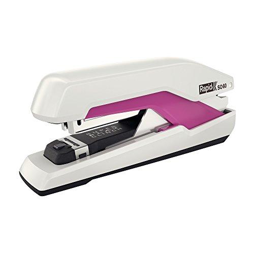 Rapid 5000554 Tacker Super Flachheftgerät (60 Blatt, Mühelos, Omnipress, Hochwertiges Ergonomisches Gehäuse, Inkl. Heftklammern, SO60) pink