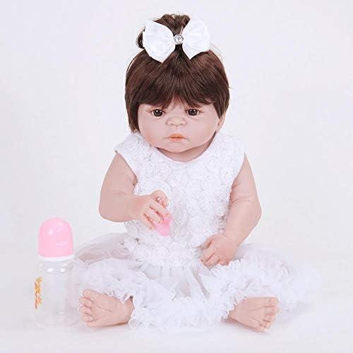 Hongge Reborn Baby Doll,Lebensechte Reborn Puppe lebensecht Baby Reborn silikonpuppe Geburtstag 58cm