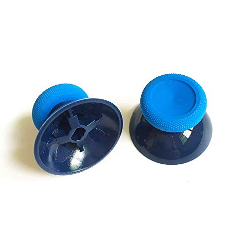 3D Analog Joystick Grip Cap Thumb Stick Grip Cap Thumbstick Replacement for Xbox One Slim Xbox One X Xbox One Elite PS4 Controller (Blue)