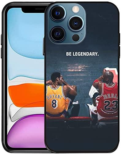 Designed for iPhone 13 Pro Max Case,Basketball Superstars Kobe & Jordan Design,Compatible with iPhone 13 Pro Max Case 6.7 inch,TPU Slim Soft Cover,Anti-Scratch Shockproof Case (Kobe Jordan A)