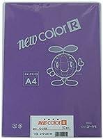 リンテック 色画用紙 ゴークラニューカラーR A4 むらさき50枚NO241