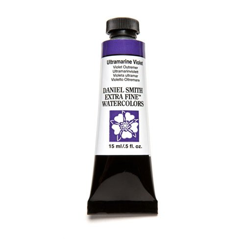 DANIEL SMITH Extra Fine Watercolor Paint, 15ml Tube, Ultramarine Violet, 284600108
