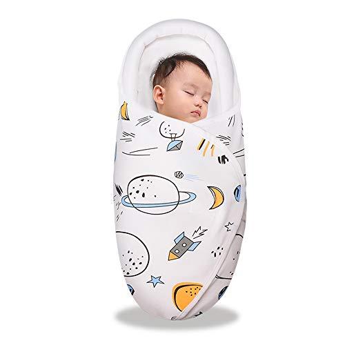 ベビー おくるみ ベビー寝袋 綿100% 新生児用 抱っこ布団 赤ちゃんの寝袋 赤ちゃんの夜泣き対策に 布団 柔らかく 通気性抜群 敏感肌適合 記念撮影 出産準備 出産祝い (宇宙, 0-3ヶ月)