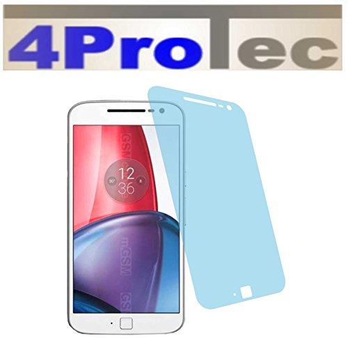 Preisvergleich Produktbild 4ProTec I 2 Stück HARTBESCHICHTETE KRISTALLKLARE Displayschutzfolie für Lenovo Moto G4 Plus Bildschirmschutzfolie Schutzhülle Displayschutz Displayfolie Folie