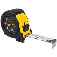 Komelon SM5416 Speed Mark Gripper Acrylic Coated Steel Blade 16-feet Tape Measure (White Blade)