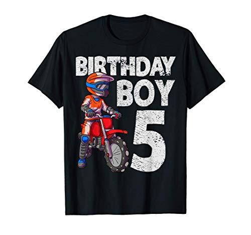 Motocross 5º cumpleaños niños MX 5 años de edad Dirt Bike Camiseta
