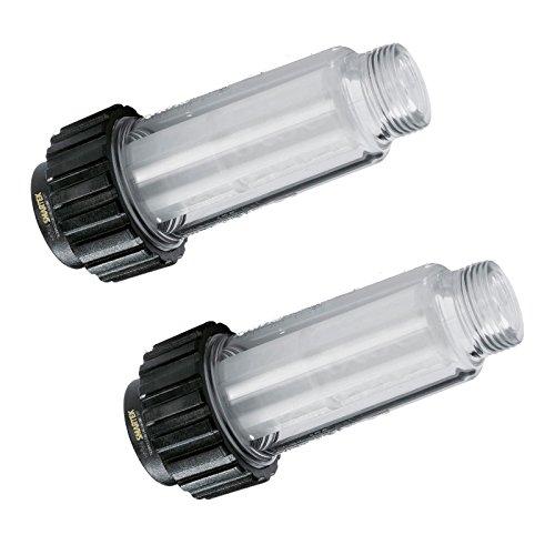 """2 x filtros de agua para Kärcher 4.730-059.0 de M&M Smartek – Conector de 3/4\"""" para K2 hasta K7"""