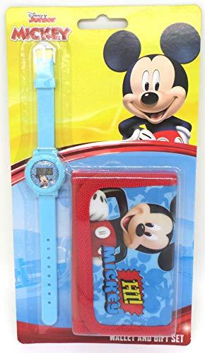 TDL Disney Mickey Mouse Set Regalo Orologio + Portafoglio - Licenza Ufficiale -Watch & Wallet