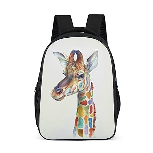 Mochila escolar con diseño de jirafa para adolescentes y niños, ligera para mujeres, bolsa escolar, mochila para niños para viajes escolares, Gris brillante., Talla única,