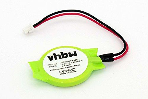 vhbw Batterie Bio Li-ION 200mAh (3.0V) Notebook, Ordinateur Portable Medion Akoya Mini E1210 comme GC02000KJ00.