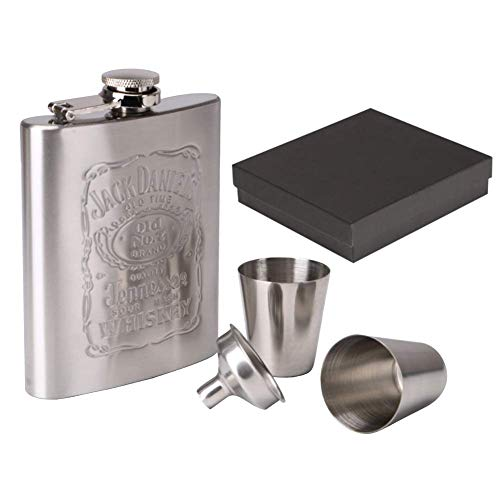 Kolven 7oz RVS heupfles Set Pocket Flagon Whiskey Alcohol Wodka Hip Kolven Wijn Bier Alcohol Fles Met Gift Box Metal Mooie delicate draagbare heupfles.