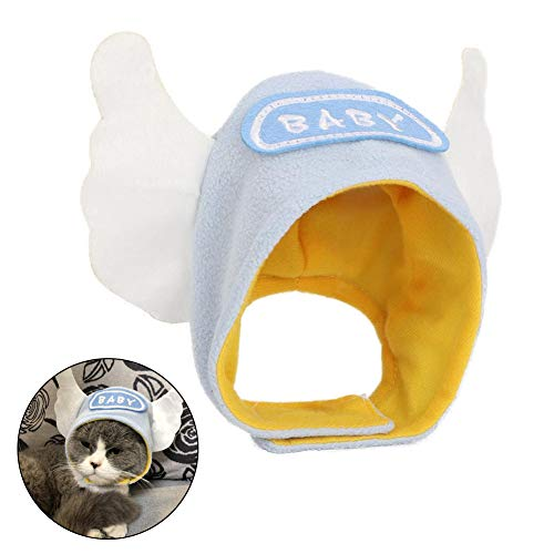 HEEPDD huisdier hoed, schattig engel vleugel pet grappige huisdier kitten zachte outfit