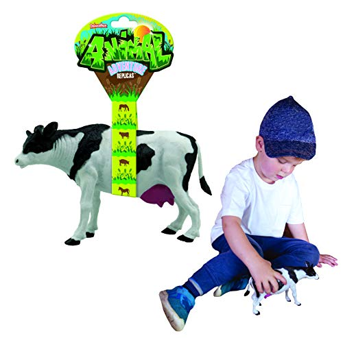 Animal Adventure Replica - Cow from Deluxebase. Cow Toy Plastic Animal Figures. Large Sized Animal Figures That are Ideal Farm Animal Toys for Kids