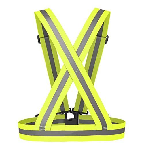 Aisoway Männlich Womale Reflektor Einstellbare Sicherheits-sicherheits-sichtbarkeit Reflektor Reflektierende Weste Gang Stripes Jacke Für Nacht Joggen Rennen Radfahren
