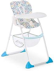 Hauck Sit N Fold – barnstol från 6 månader, med justerbart ryggstöd och stor korg/avtagbar, djup justerbar matbräda/snabb och liten hopfällbar