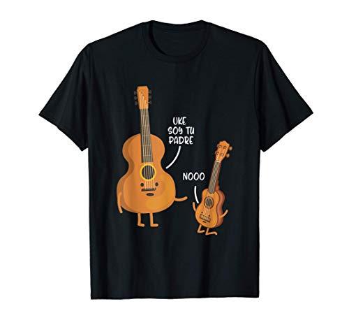 Uke Soy Tu Padre Divertido Papa Día Del Padre Regalo Camiseta