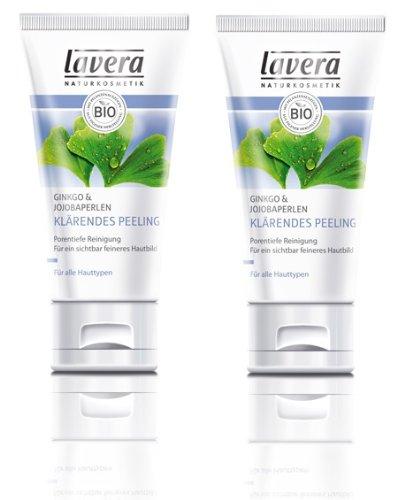 Lavera 2x klärendes Peeling 50 ml Faces für alle Hauttypen 2er Pack