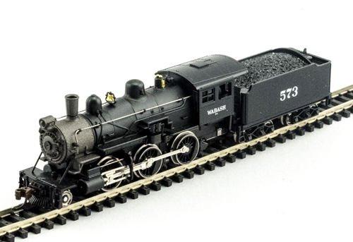 MDP N Scale Wabash 2-6-0 Mogul Model Train Steam Locomotive - Model Power 87651