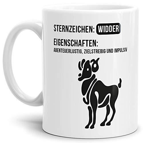 Tasse mit Design ?Sternzeichen Widder - Kaffeetasse/Mug/Cup - Qualität Made in Germany