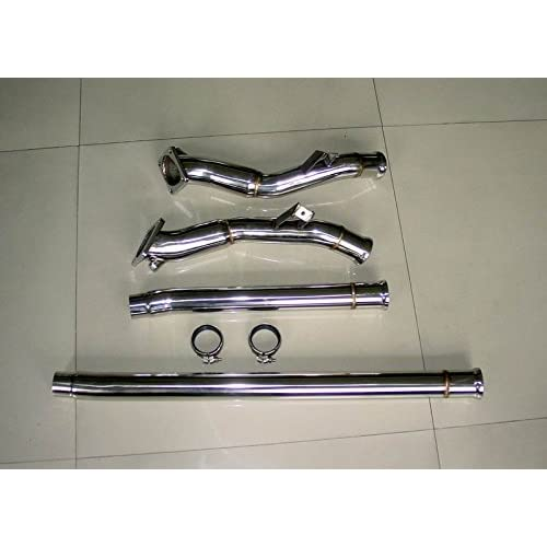 Audi S4 B5 2.7L Bi-Turbo Stainless Steel Downpipe System NON RESONATED