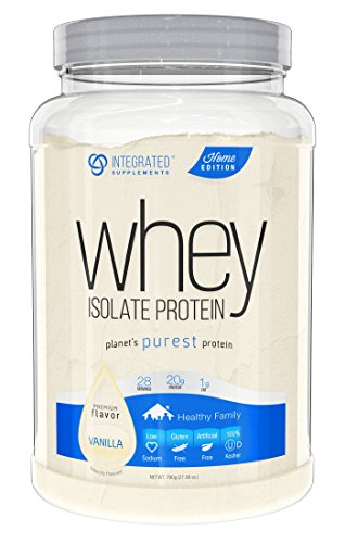 Integrated Supplements CFM Whey Protein Isolate Diet Supplement, Vanilla, 790G