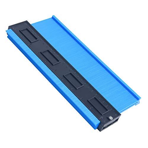 """flintronic Konturenlehre, 10+\"""" Fliesen Laminat Duplikator, Markierungswerkzeug Profil Kopierer mit Skala unregelmäßiges Ideal für Laminat, Fliesen uvm - Blau"""