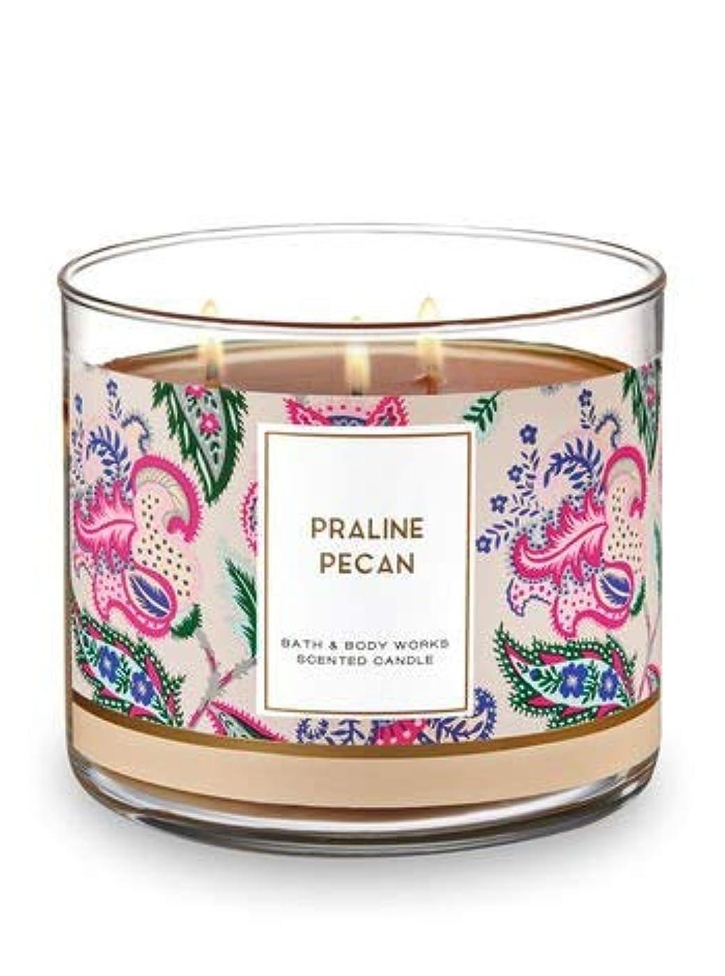 海洋のモネ紀元前Bath and Body Works 3 Wick Scented Candle Praline Pecan 430ml