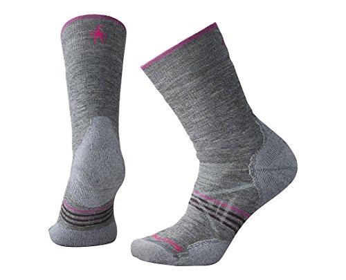 Smartwool Women's PhD Outdoor Medium Crew Socks Medium Gray FR: M (Taille Fabricant: M)