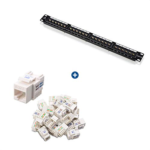 Cable Matters UL Listed Rackmount or Wall Mount 24 Port Cat6 Patch...