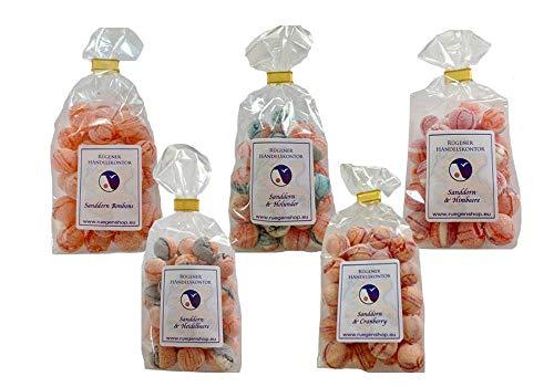 Sanddornbonbons - Beerige Mischung - 5 verschiedene Tüten