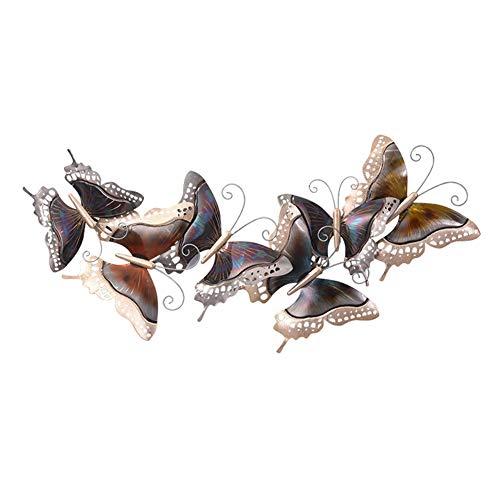 LUSHUN Mariposa Arte de La Pared Metal 3D Mariposa Colgador de Pared Decoraciones, Arte Pared De Metal Y Decoración de Pared para La Decoración del Jardín del Hogar