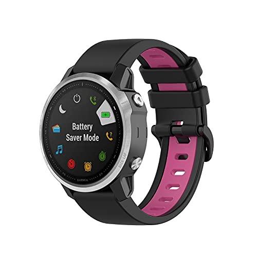 Gransho Correa de Reloj Recambios Correa Relojes Caucho Compatible con Garmin Fenix 6X Pro/Fenix 6X Sapphire/Fenix 3 / Fenix 5X Plus/5X Sapphire - Silicona Correa Reloj con Hebilla (Pattern 7)