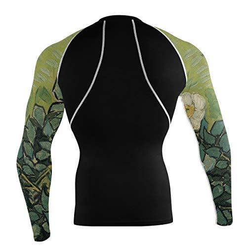 Fantazio Van Gogh Wild Roses T-shirt de sport à manches longues pour vélo de montagne - - L