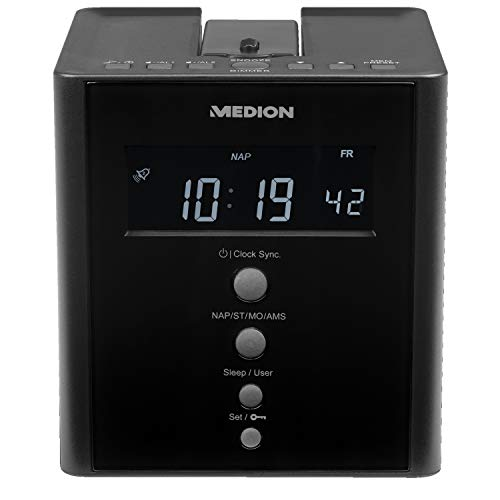 MEDION MD 43562 E66395 Projektions-Uhrenradio mit Weckfunktion PLL UKW schwarz