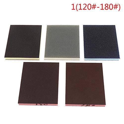 2pcs 120-1000grit Polieren Schleifen Schwammblock Pad Schleifpapier Verschiedene Schleifwerkzeuge Zufällige Farbe 120 * 100 * 12mm, A4 600.800grit
