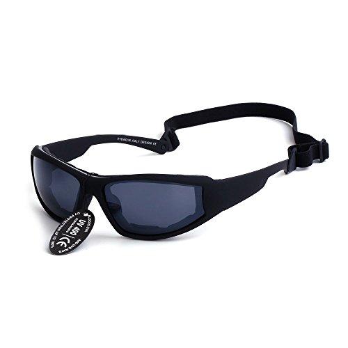 Supertrip Sonnenbrille Polarisierte Herren Sportbrille Fahrradbrille Radsportbrille Motorradbrille Skibrille für Sport und Freizeit Color Schwarz