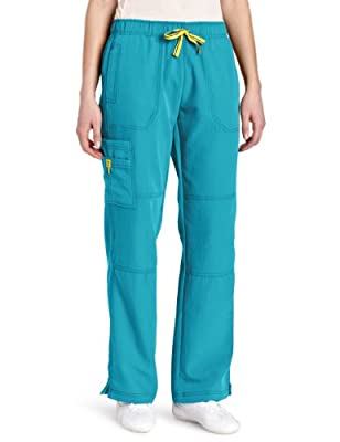 WonderWink womens Four-Stretch Sporty Cargo Pant, Real Teal, 3X-Large
