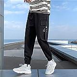 Dongwall Monos De Hombre Hip Hop Joggers Hombres Pantalones Harem Negros Cinta Multibolsillos OtoñO Hombre...