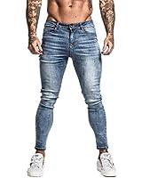 GINGTTO Mens Designer Jeans Blue Skinny Denim Jeans for Men Stretch Jean Pants 28