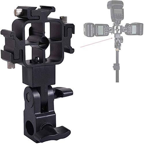 Nikon ニコン/Canon キヤノン/Pentax ペンタックス/Sigma シグマ/Olympus オリンパス/Metz/Nissin/Vivitar 用三脚ホットシューマウント/フラッシュブラケット/カメラ傘ホルダー