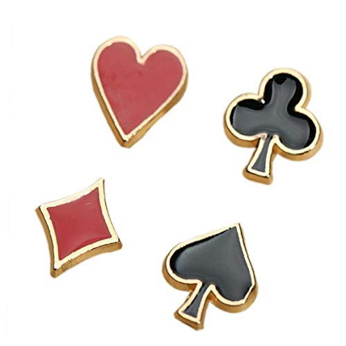 4pcs / Set Pequeño Poker Gemelos Broches de aleación Pin Pin Accesorios