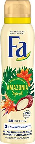 FA Brazilian Vibes Amazonia Spirit Déodorant en spray Parfum floral exotique 150 ml