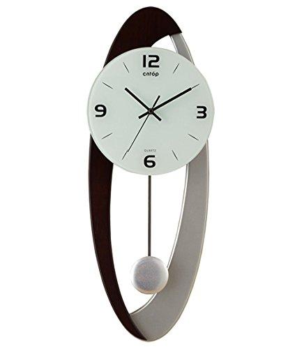 Creativa moderna europea Soggiorno Orologio da parete, Orologio a pendolo artistico, semplice personalità di modo orologio muto ( colore : A , dimensioni : 10 Inches )