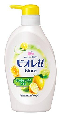 BIORE U Body Soap Pump, Fresh Citrus