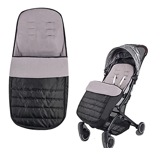 Xifamniy Universal Baby Thicken Stroller Footmuff Bunting Sleeping Bag to Protect Baby from Winter Cold Weather in Pushchair, Pram, Car Seats Black
