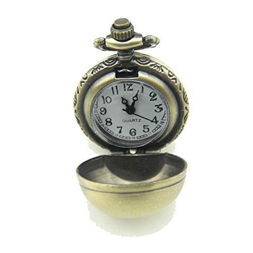 Reloj De Bolsillo Retro Brillante Esférico Bolsillos Reloj Pendiente del Reloj De Bolsillo Collar Conveniente para La Ocasión Ocasionales Y del Negocio (sin La Cadena)