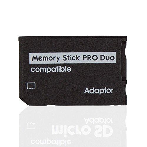 Micro SD TF a Memory Stick MS Pro Duo lector adaptador Conversor Funda