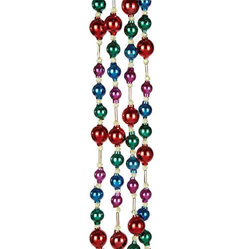 Kurt Adler 6' Glass Bead Multicolor Garland